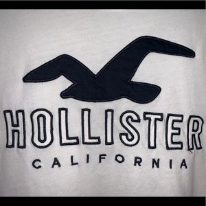 Hollister Tops - white hollister t shirt with logo